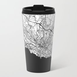 Lausanne Map Gray Travel Mug