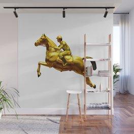 Horse Rider Gold Wall Mural