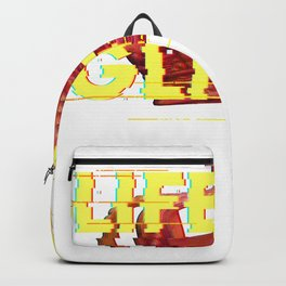 Vaporwave Life's a Glitch Art Aesthetic Crown Glitch effect product Backpack