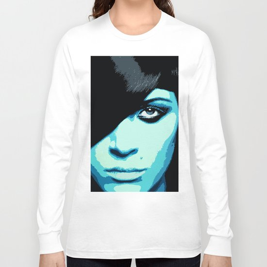 She Is Feeling A Little Blue Today Long Sleeve T-shirt
