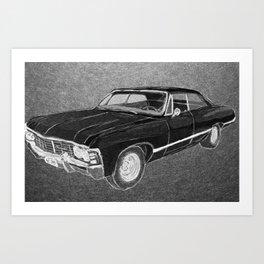 '67 Chevy Impala (Supernatural) Art Print