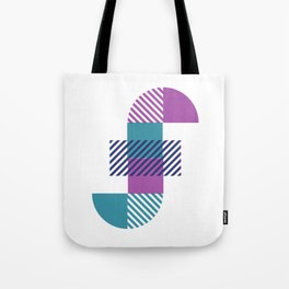 Rotation Alphabet 'f' On White Tote Bag