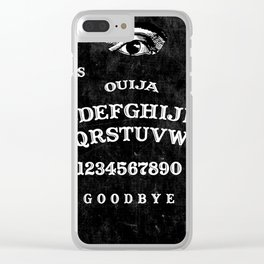 Black Ouija Clear iPhone Case