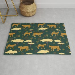 Leopards on the Prowl Rug
