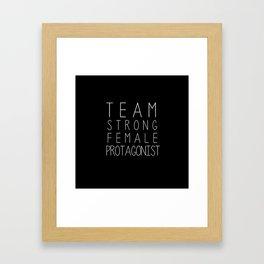 team strong female protagonist black Framed Art Print
