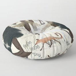 the fox and unicorn Floor Pillow