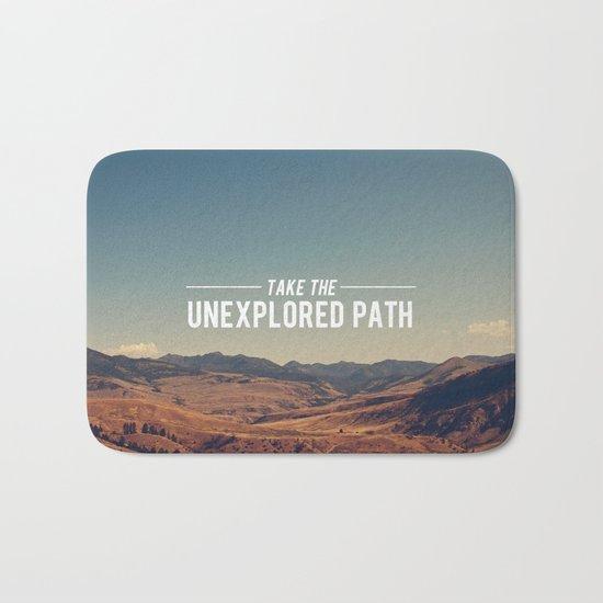 Take The Unexplored Path Bath Mat
