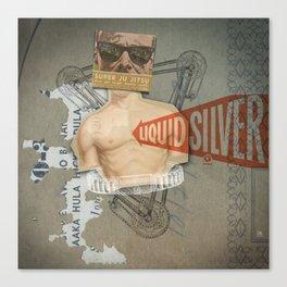 Super Ju Jitsu Liquid Silver Canvas Print