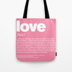 definition LLL - Love Tote Bag
