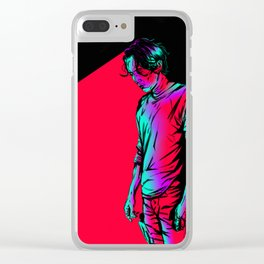 Glenn Rhee - Retrowave Clear iPhone Case