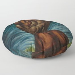 African-American Masterpiece 'Spiritual'  - Prayer for the Departed by Charles White Floor Pillow