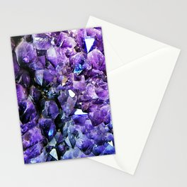 Amethyst Geode Stationery Cards