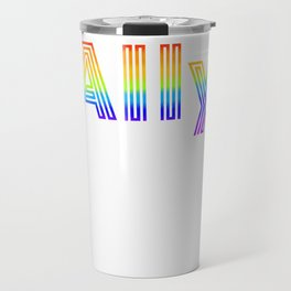 Straight Ally design For LGBT Pride Supporters Travel Mug