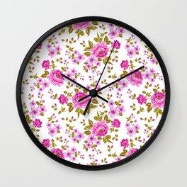 Luxurious color peony Wall Clock