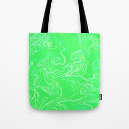 Neon green abstract Tote Bag