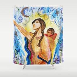 Sacagawea (Sacajawea) and Jean Baptiste Shower Curtain