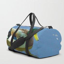 Ducks swimming Duffle Bag