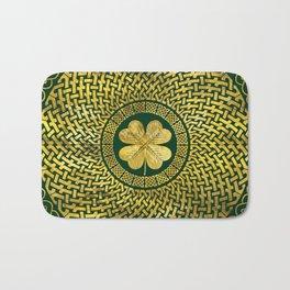 Irish Four-leaf clover with Celtic Knot Bath Mat