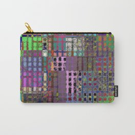 Pastel Playtime - Abstract, geometric, textured, pastel themed artwork Carry-All Pouch