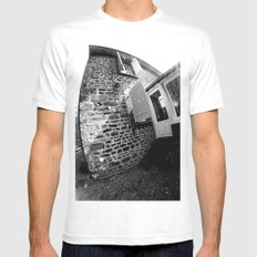 Confused Houses White MEDIUM Mens Fitted Tee