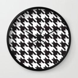 Catstooth Pattern Wall Clock