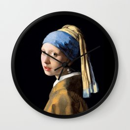 Girl with a Pearl Earring - Jonah Vermeer Wall Clock