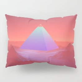 Blue Pyramid Pillow Sham