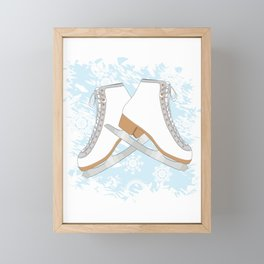 Ice skates Framed Mini Art Print