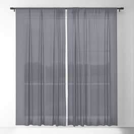 Dark Navy Blue Pairs With Jolie Classic Navy Blue 2020 Color of the Year Sheer Curtain