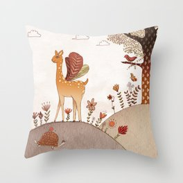 The flying Bambi Throw Pillow