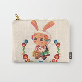 The Cute Bunny in Polish Costume Carry-All Pouch