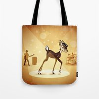 bambi Tote Bags featuring BAMBI by kravic