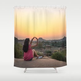 Incredible India: Hampi Shower Curtain