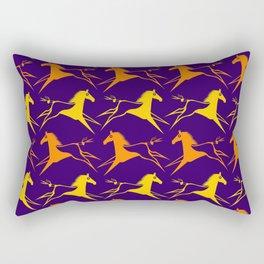 Horse Nation Purple Gold Rectangular Pillow