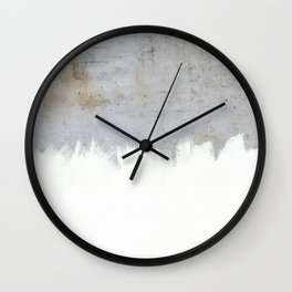 Painting on Raw Concrete Wall Clock