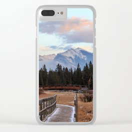 Sunset in the Canadian Rockies Clear iPhone Case