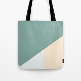 Green Gold Icy Blue Split Tote Bag