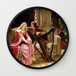 The End Of The Song - Edmund Leighton Wall Clock