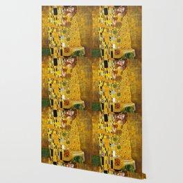 The Kiss Gustav Klimt Wallpaper