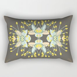 2941-Phebalium-Abstract-Brown Rectangular Pillow