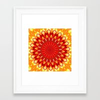 be happy Framed Art Prints featuring HAPPY by Teresa Chipperfield Studios