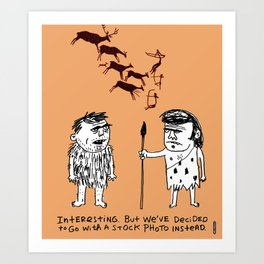 Cavemen Stock Photos / I Drew This Thing Art Print