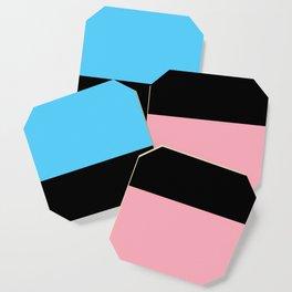 Black Trans Flag Coaster