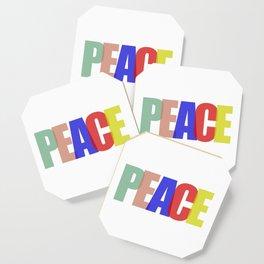 Peace (Color) Coaster