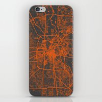 houston iPhone & iPod Skins featuring Houston map by Map Map Maps