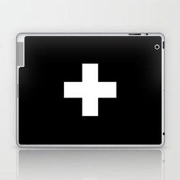 Swiss Cross Black and White Scandinavian Design for minimalism home room wall decor art apartment Laptop & iPad Skin