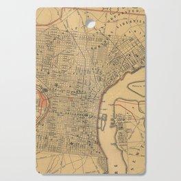 Vintage Map of Philadelphia Pennsylvania (1857) Cutting Board