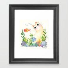 The Aquarium Cat Framed Art Print