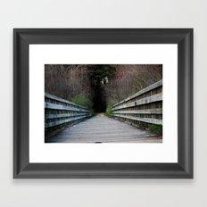 Be aware of your surroundings Framed Art Print