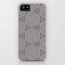 Grey Lace Coin Vintage Inspired Design iPhone Case